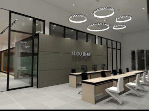 Receptionist counter design